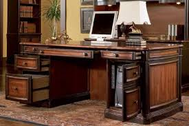 Big Office Desk Home Office Computer Desk With Hutch In Two Tone Warm
