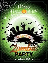 halloween background green vector illustration on a halloween zombie party theme on green
