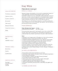 operations manager resume template gfyork com