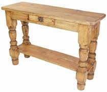 Rustic Sofa Table by Rustic Mexican Pine Living Room Furniture