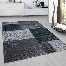 teppich für jugendzimmer moderner designer teppich plus 8001 türkis