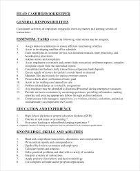 cashier resume responsibilities cashier responsibilities on resume 13 best resume letter of