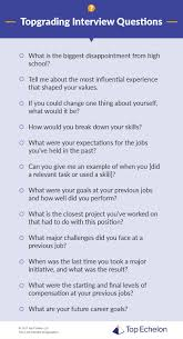 an example of chronological order what is topgrading interview questions and process steps