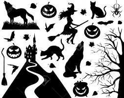 halloween window silhouettes template black witch stencil google