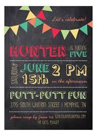 chalkboard birthday boy invitation polka dot invitations