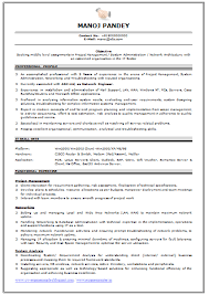 Example Of Resume Format by Professional Curriculum Vitae Resume Template For All Job