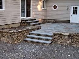 Raised Patio Construction Raised Concrete Patio Ideas Raised Stamped Concrete Patio With