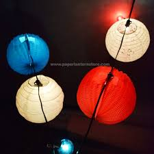 White Paper Lantern String Lights by 4th Of July String Lights Idea