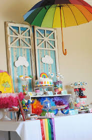 Rainbow Party Decorations 137 Best Rainbow Party Ideas Images On Pinterest Rainbow Parties