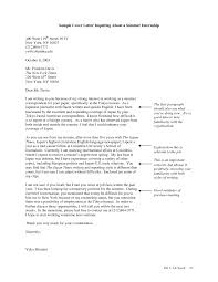 sample cover letter accounting internship example cover letter accounting internship gallery cover letter