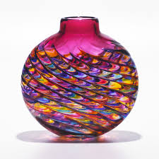 unique handmade colorful art glass vases artful home