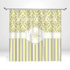 bathroom ideas yellow and gray shower curtains coral grey curtain