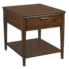transitional elise end table with one drawer by kincaid furniture