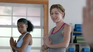 Aflac Commercial Actress In Gym | funny aflac yoga commercial youtube