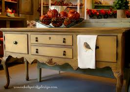 somewhat quirky buffet in primer red and arles chalk paint
