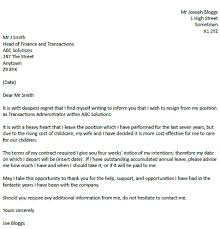 resignation letter format amazing ideas thank you resignation
