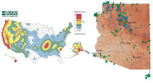 Yuma Az Map Earthquakes Do Occur In Arizona Department Of Emergency And