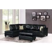 Black Leather Sectional Sofas Black Sectional Sofas Walmart Com