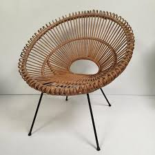 vintage franco albini janine abraham wicker rattan chair