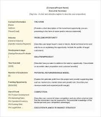summary document template 7 project summary templates free word