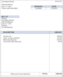 best photos of blank invoice template in word free blank invoice