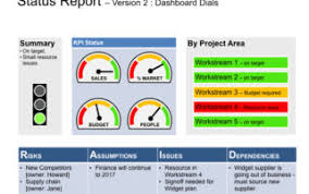 Project Status Report Template Excel Filetype Xls Rag Status Communicate Project Status Risk Reporting