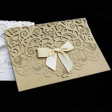fancy wedding invitations 50pcs pack luxurious wedding invitation cards hollow