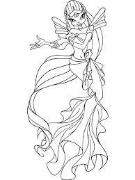 winx mermaid coloring pages free printable winx mermaid coloring