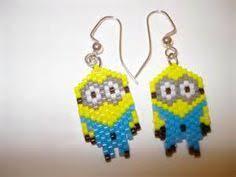 minion earrings minion inspired beaded earrings on etsy 16 00 beading