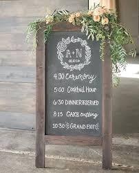chalkboard wedding programs folding chalkboard sign chalkboard wedding program rustic by