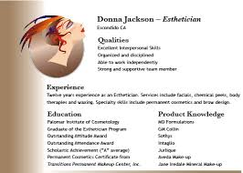 esthetician resume example awesome collection of church