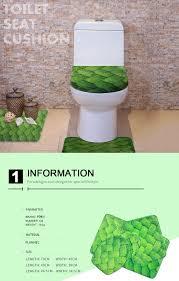black white washable bathroom floor mats rugs toilet lid cover