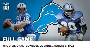 lions capture postseason win since 1957 1991 divisional