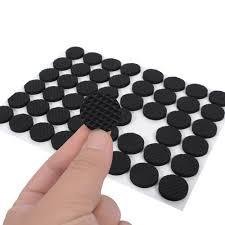 Furniture Rubber Floor Protectors by 48pcs Bag 2cm Black Non Slip Self Adhesive Floor Protectors