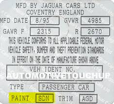 jaguar paint code locations touch up paint automotivetouchup
