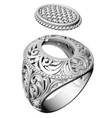 3d printable model ring with ornament cgtrader