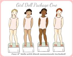 printable paper dolls girl printable paper doll package dolls only instant