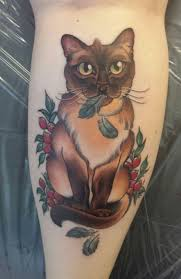 30 cat tattoos siamese cat tattoos and cat designs