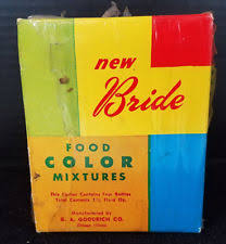 vintage food coloring ebay