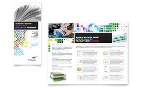 printing company brochure template word u0026 publisher