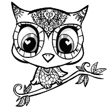 difficult owl coloring pages printable kids colouring pages for