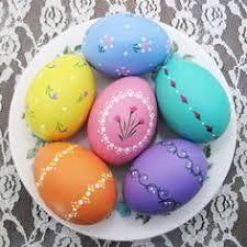 ceramic easter eggs set of 9 custom easter eggs personalized painted easter eggs