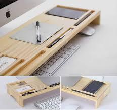 Upright Desk Organizer Wooden Unibody Monitor Imac Stand Desk Organizer Feelgift
