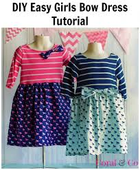 derby style bow t shirt dress by shelly project sewing kids