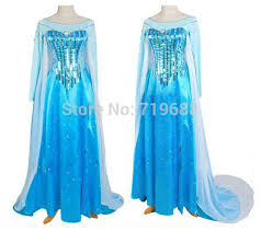 Elsa Halloween Costume Adults Aliexpress Buy Elsa Costume Snow Queen Costume Elsa