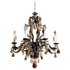 Antique Chandelier Antique Chandelier Fine Iron Chandelier With Crystal Fruit For