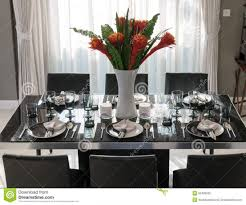 Dining Table Set Up Table With Table Setting Stock Image Image 55400535