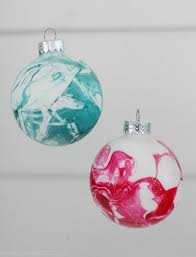 marbleized ornaments lovely etc