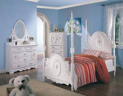 teen s white wash elegant four post bedroom set 250