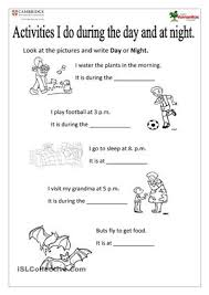 12 best images of day and night opposites worksheets clean and